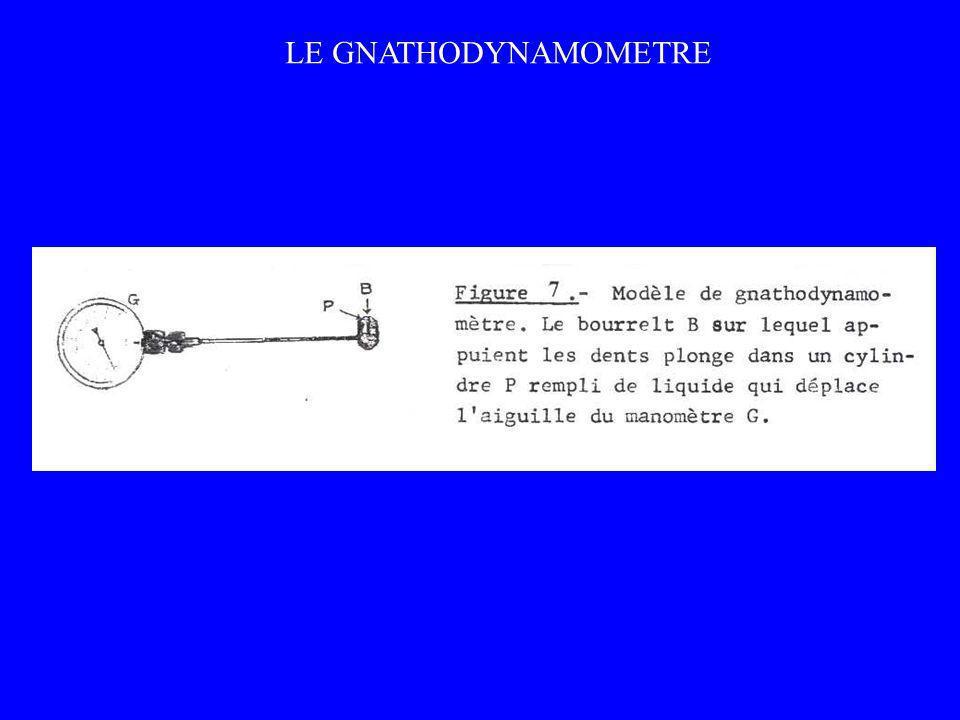 LE GNATHODYNAMOMETRE