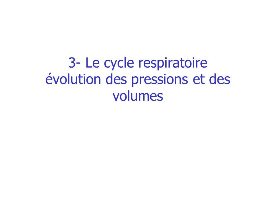 3- Le cycle respiratoire évolution des pressions et des volumes