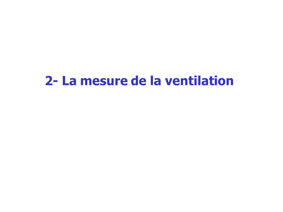 2- La mesure de la ventilation