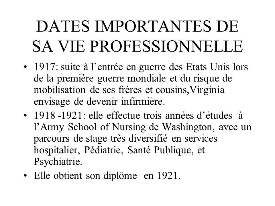 DATES IMPORTANTES DE SA VIE PROFESSIONNELLE 1917: suite à lentrée en guerre des Etats Unis lors de la première guerre mondiale et du risque de mobilis