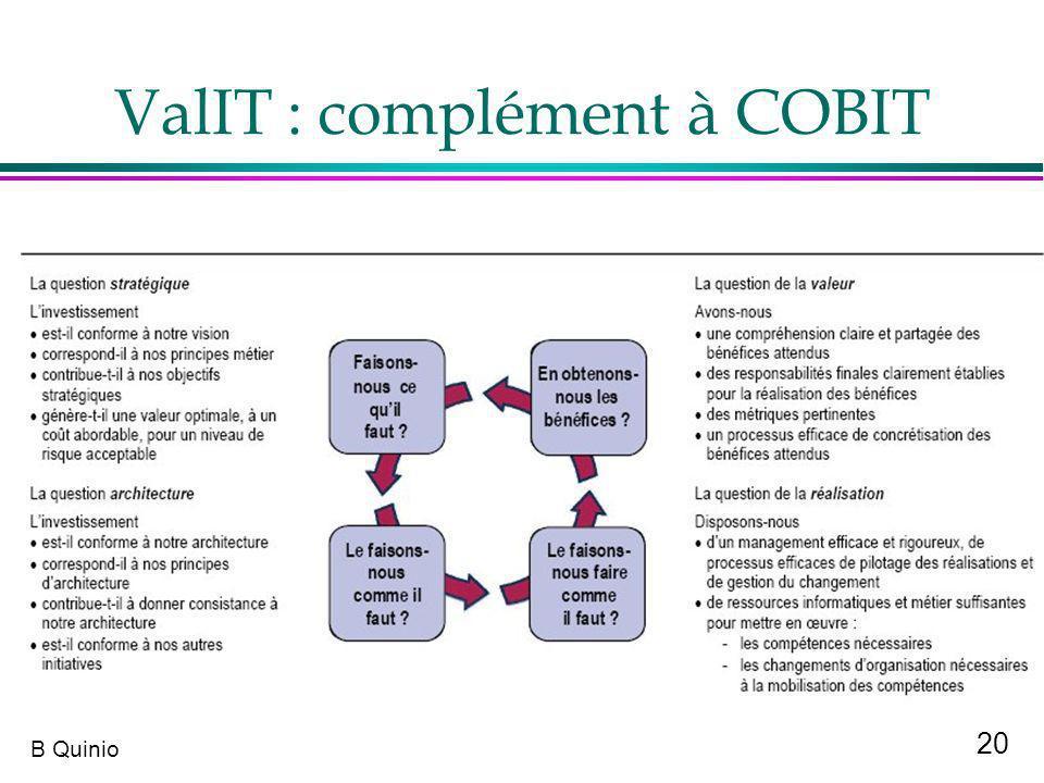 20 B Quinio ValIT : complément à COBIT
