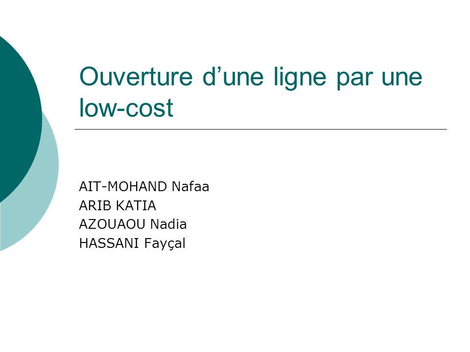 Ligne Paris-Bilbao opérée uniquement par Air France Trafic potentiel 100000 passagers mensuel CA Air France 1 M mensuel Arrivée dune low-cost XX Niveau dentrée: 100 tout inclus vs 176 pour Air France Possibilité de descendre jusquà 80 avec un ajustement des frais de dossier sur internet Présentation du cas