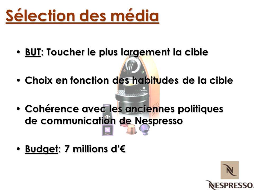 Télévision Affichage Presse Sélection des média Nous avons choisi de communiquer par le biais de 3 média, en cohérence avec notre cible média:
