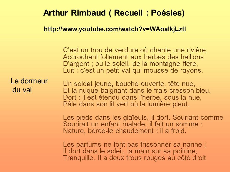 Charles Baudelaire (Recueil : Les fleurs du mal) http://www.youtube.com/watch?v=yC-XBYV_5f8 http://www.youtube.com/watch?v=yC-XBYV_5f8 La fin de la jo
