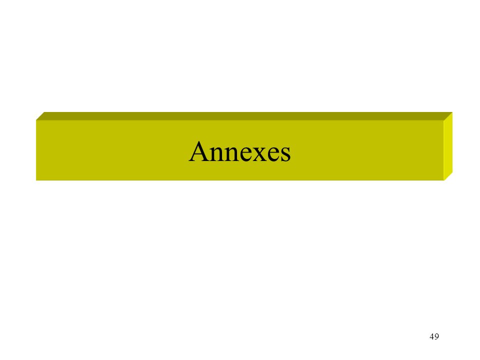 49 Annexes