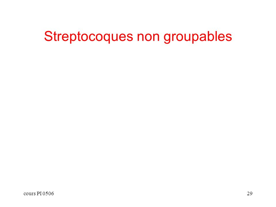 cours PI 050629 Streptocoques non groupables