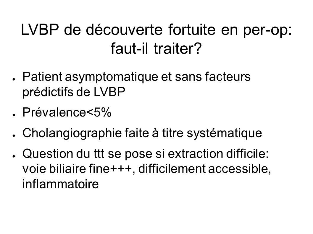 LVBP de découverte fortuite en per-op: faut-il traiter.