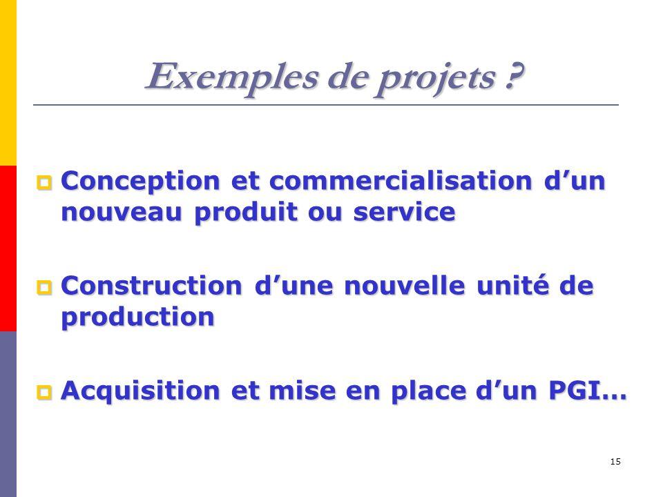 15 Exemples de projets .