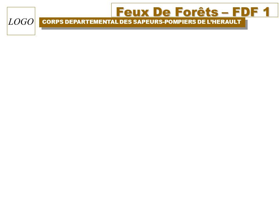 Feux De Forêts – FDF 1 CORPS DEPARTEMENTAL DES SAPEURS-POMPIERS DE LHERAULT LOGO
