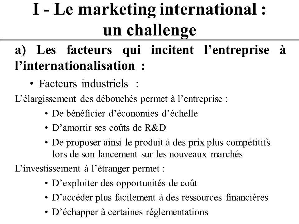 III – Lélaboration du plan marketing international : produit CatégoriesCaractéristiquesProducteurs PRESCRIPTIONS TECHNIQUES FACULTATIVES Norme technique Elles couvrent tous les secteurs économiques.