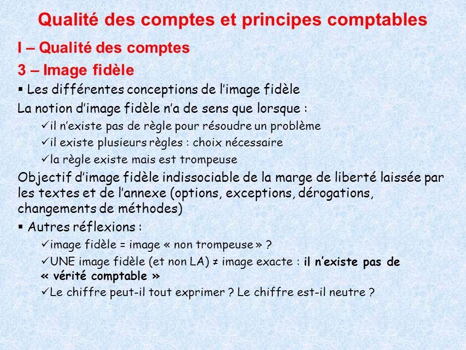 Qualité des comptes et principes comptables II – Les principes comptables Comptabilité = langage assurant une fonction de communication et basé sur des codes, des principes connus de tous.