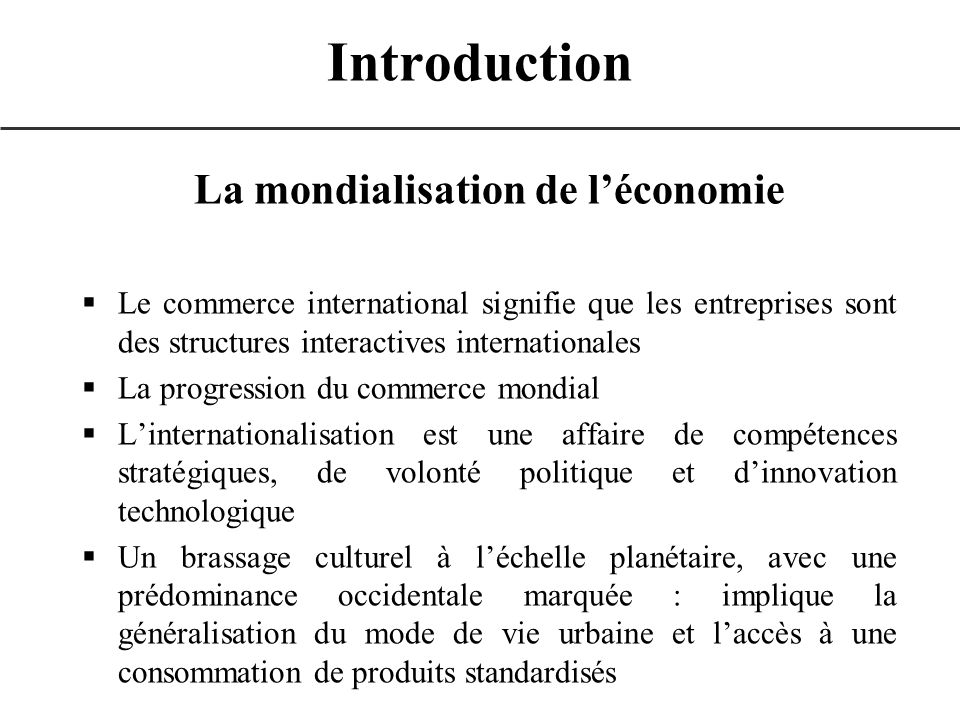 c)La mise en œuvre de la stratégie de communication internationale le budget de communication –Evaluer le budget de communication allocation dune somme forfaitaire attribution dun pourcentage du CA détermination du budget de communication à partir de ceux des concurrents évaluation à partir des coûts des moyens à mettre en œuvre pour atteindre les objectifs commerciaux « expérience et bon sens » III – Lélaboration du plan marketing international : communication