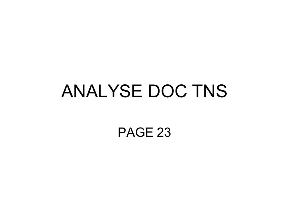 ANALYSE DOC TNS PAGE 23