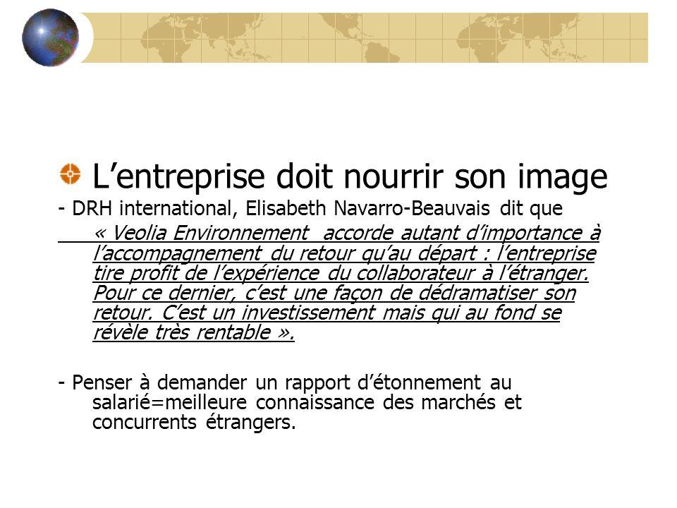 Lentreprise doit nourrir son image - DRH international, Elisabeth Navarro-Beauvais dit que « Veolia Environnement accorde autant dimportance à laccomp