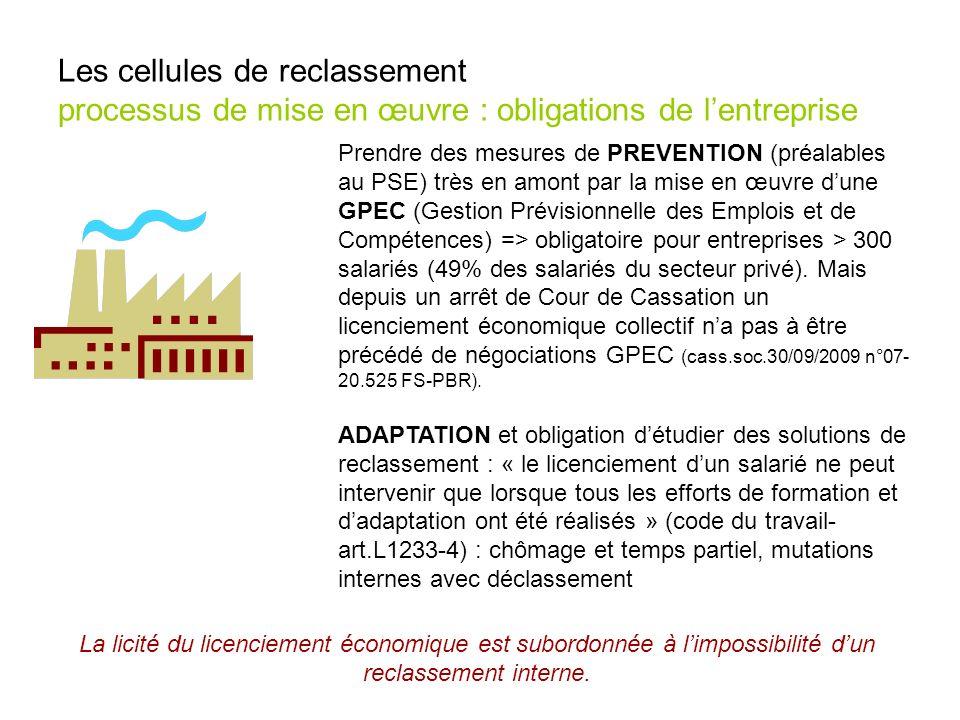Prendre des mesures de PREVENTION (préalables au PSE) très en amont par la mise en œuvre dune GPEC (Gestion Prévisionnelle des Emplois et de Compétenc