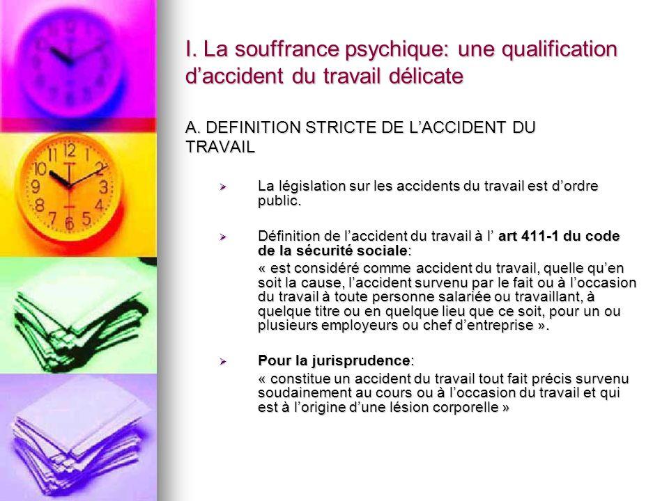 2.4.SUICIDE TYPE DE SOUFFRANCE PSYCHIQUE MANIFESTATIONSACCIDENT DU TRAVAIL.