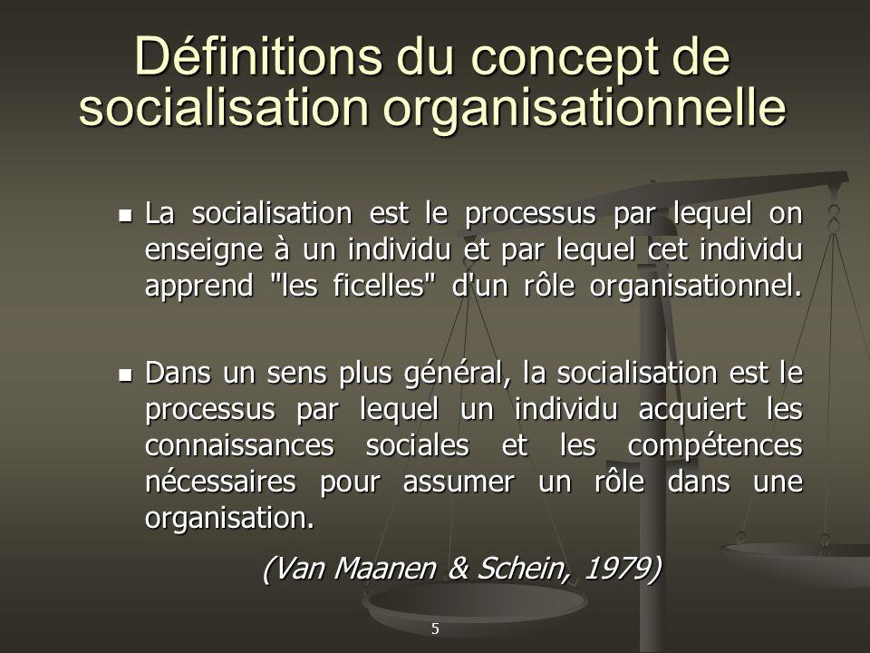 5 La socialisation est le processus par lequel on enseigne à un individu et par lequel cet individu apprend