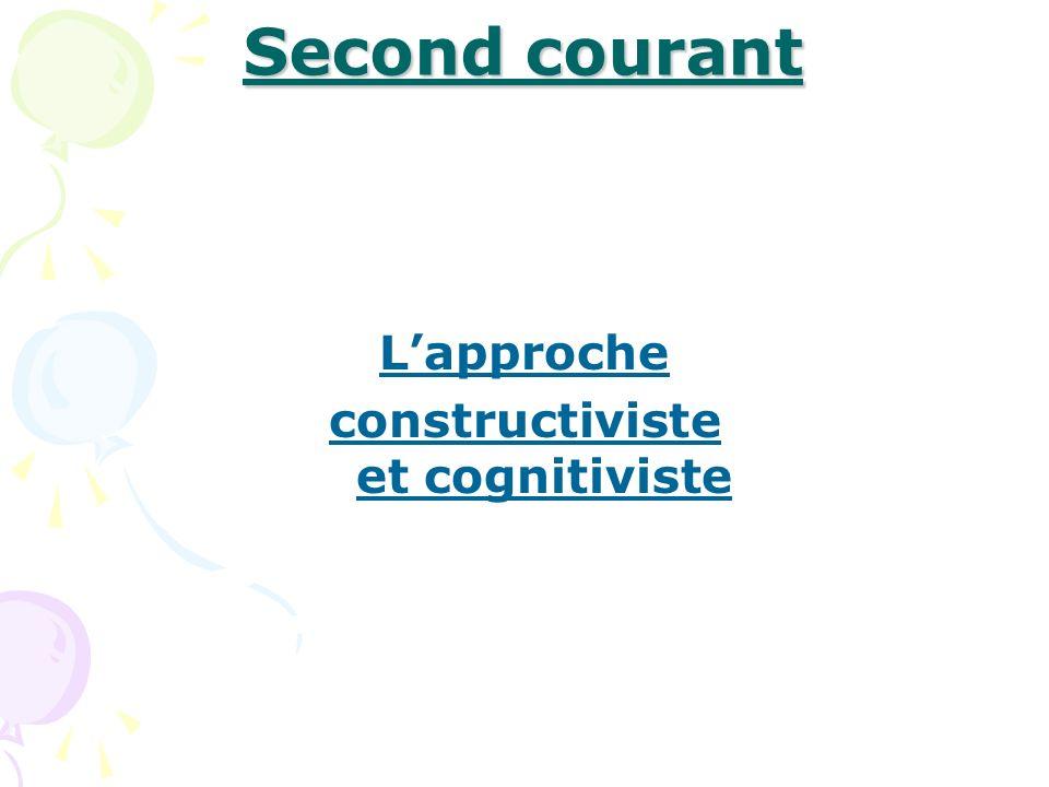 Second courant Lapproche constructiviste et cognitiviste