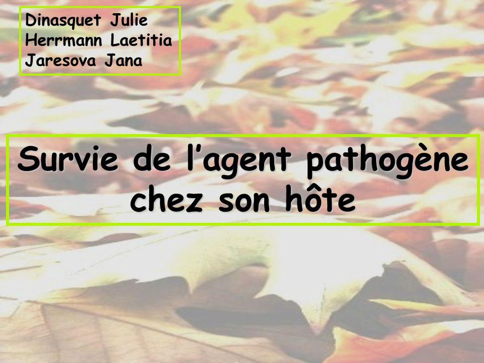 Dinasquet Julie Herrmann Laetitia Jaresova Jana Survie de lagent pathogène chez son hôte