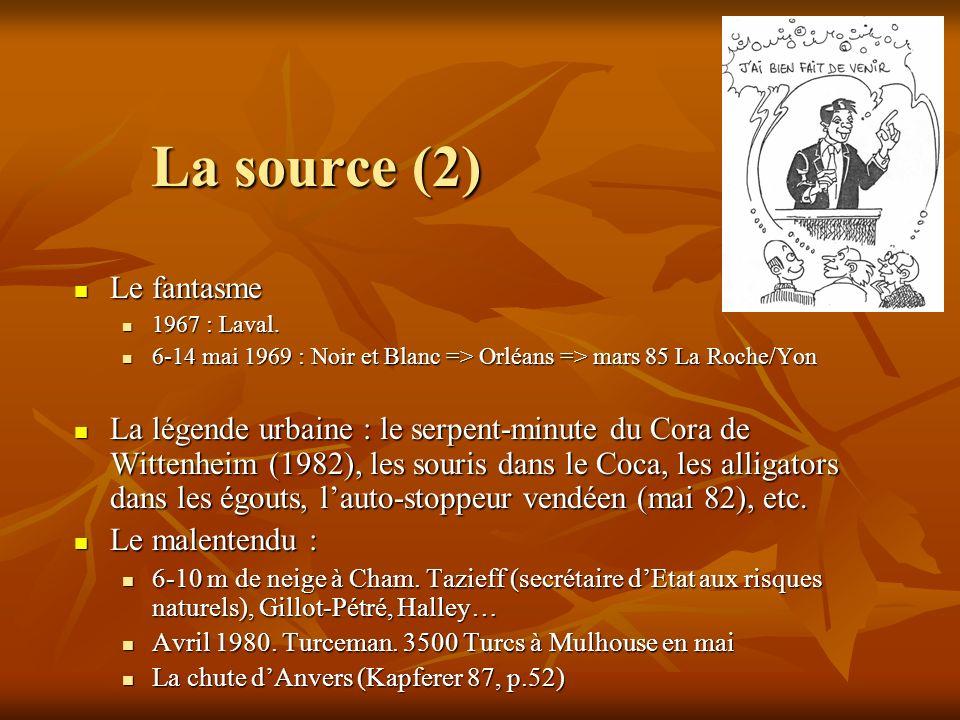 La source (2) Le fantasme Le fantasme 1967 : Laval.