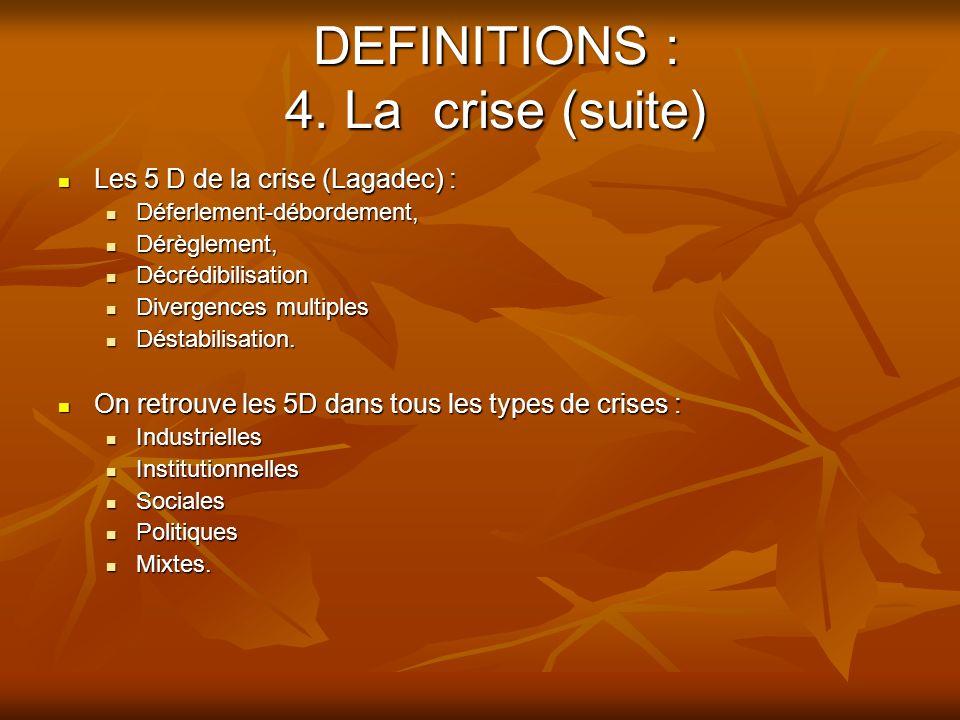 COMMUNICATION DE CRISE Les sources de la crise : Chapitre 3