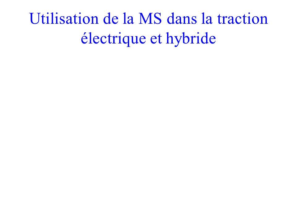 Utilisation de la MS dans la traction électrique et hybride