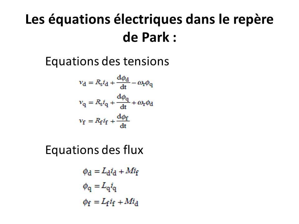 Equation du couple électromagnétique : Equation mécanique: