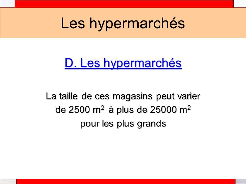 Alain Téfaine – 04/2004 Les hypermarchés Exemple : Les magasins Carrefour – leader en Europe