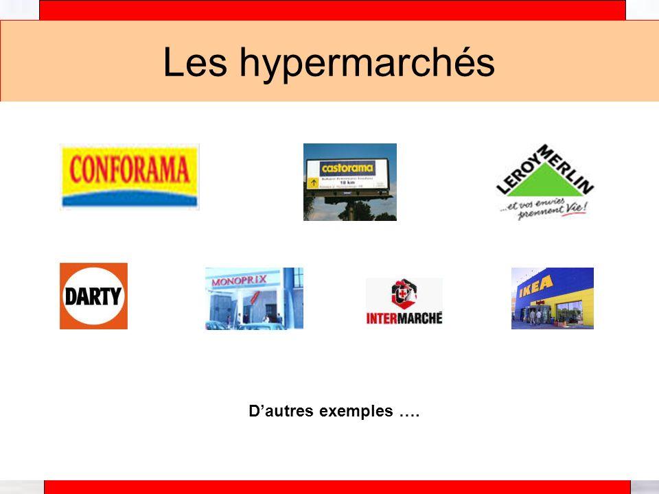 Alain Téfaine – 04/2004 Les hypermarchés Dautres exemples ….
