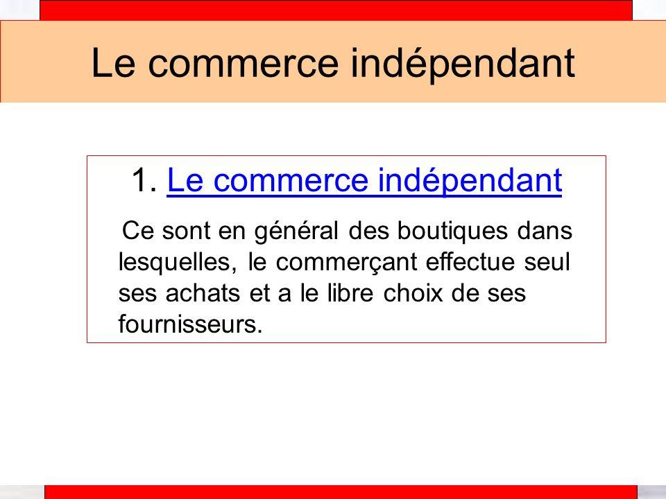 Alain Téfaine – 04/2004 Le commerce indépendant 1.