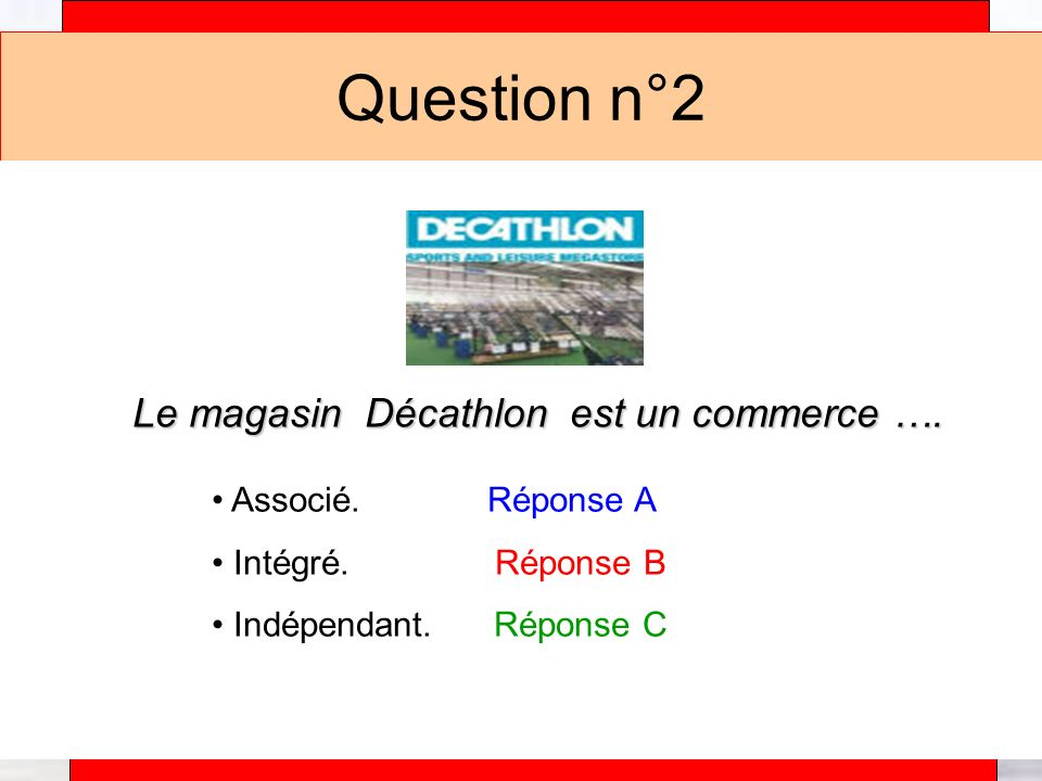 Alain Téfaine – 04/2004 Question n°3 Le magasin Carrefour est un commerce ….