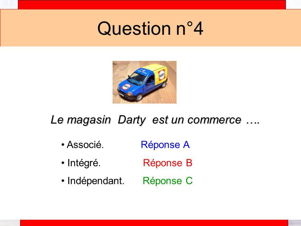 Alain Téfaine – 04/2004 Question n°4 Le magasin Darty est un commerce ….