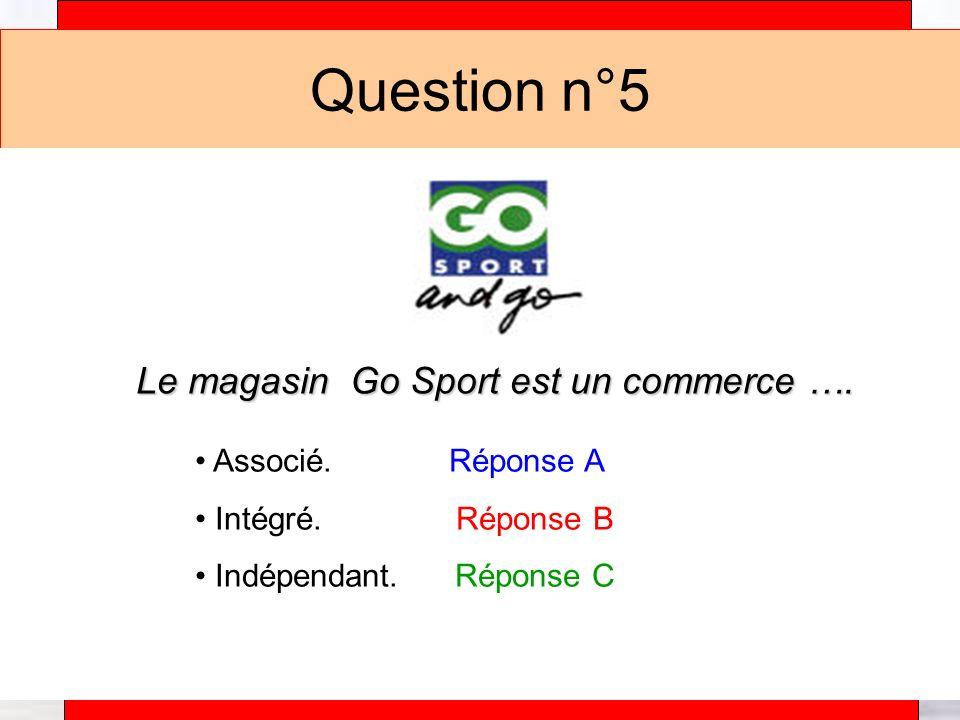 Alain Téfaine – 04/2004 Question n°5 Le magasin Go Sport est un commerce ….