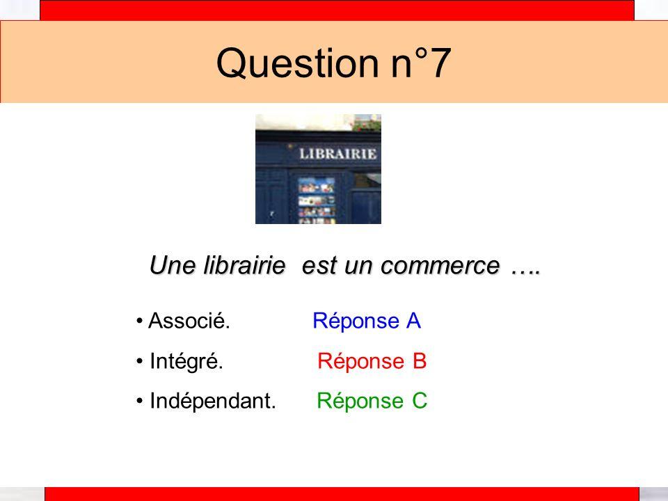 Alain Téfaine – 04/2004 Question n°7 Une librairie est un commerce ….