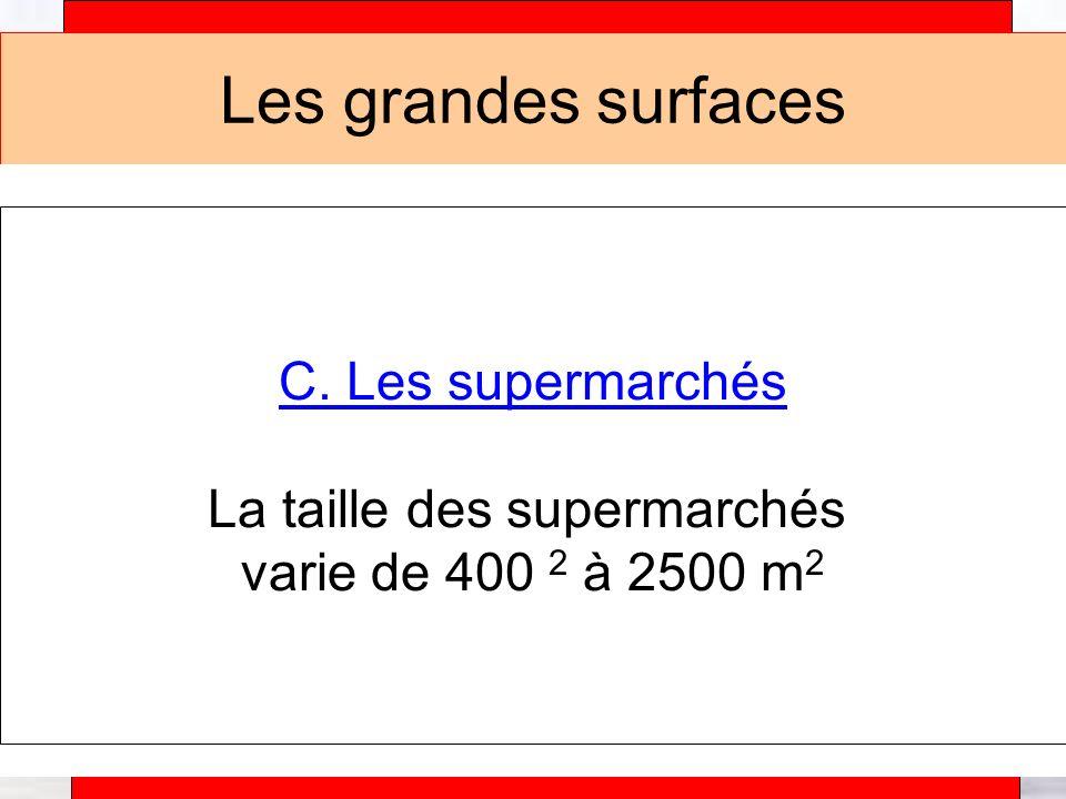 Alain Téfaine – 04/2004 Les grandes surfaces C.