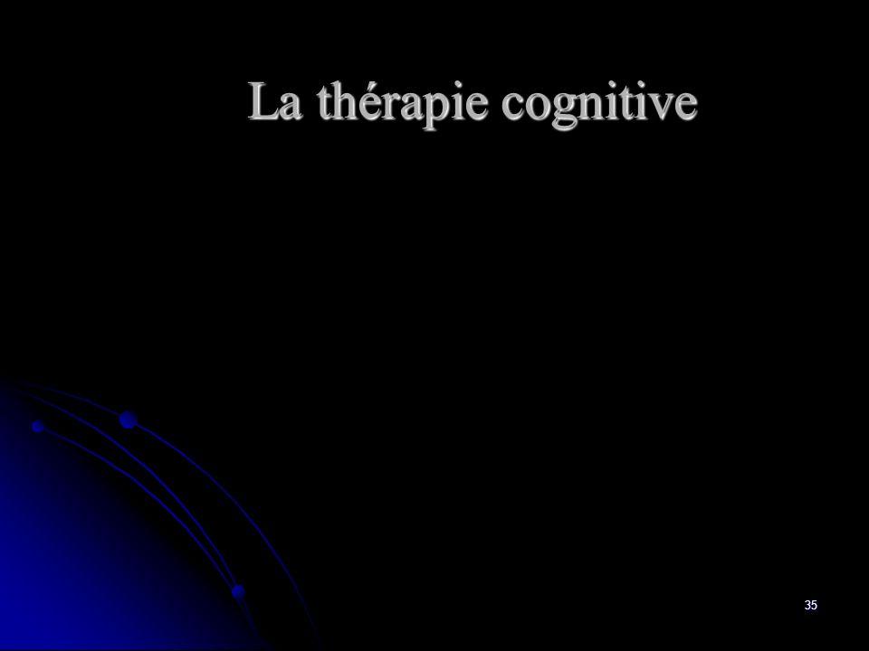 35 La thérapie cognitive