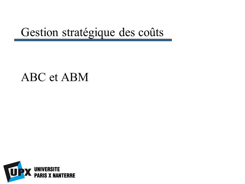 ABC et ABM Gestion stratégique des coûts