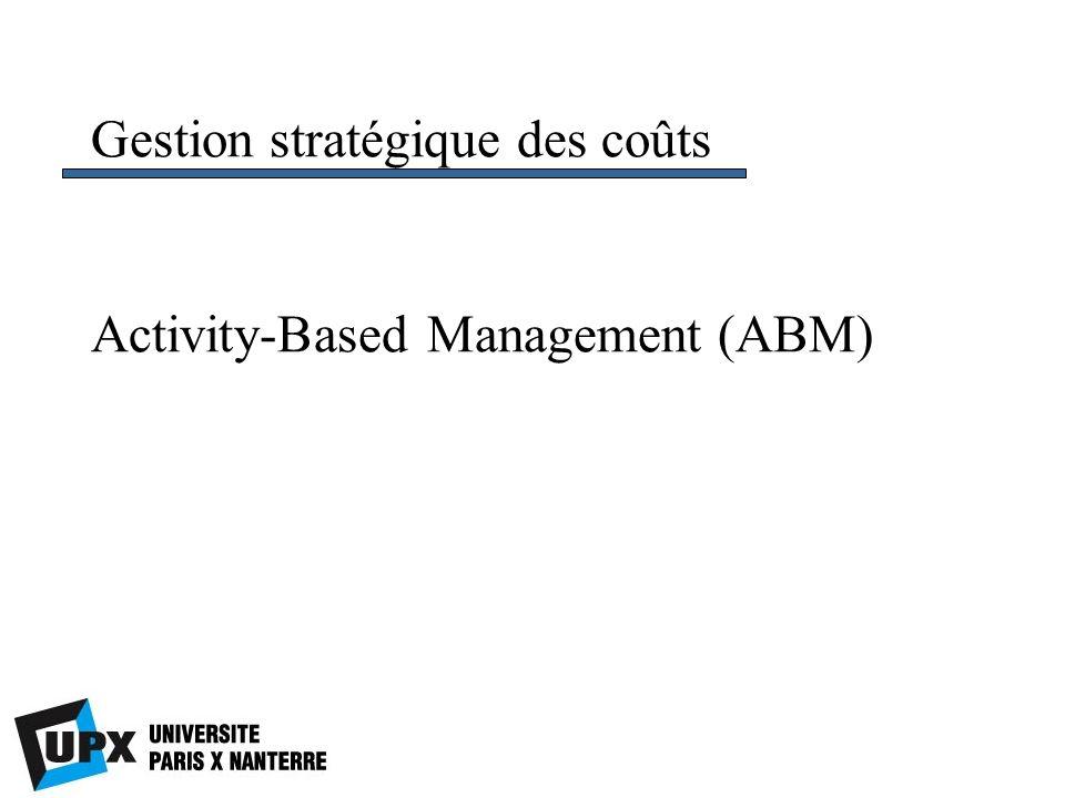 Activity-Based Management (ABM) Gestion stratégique des coûts
