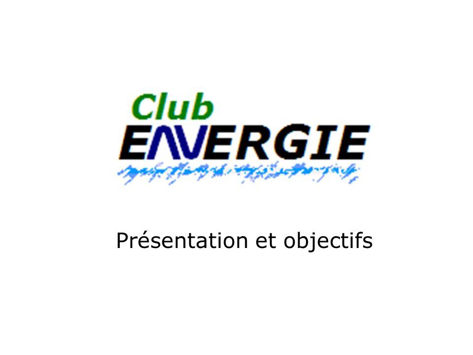 But du club Développer, réaliser et tester des systèmes et procédés permettant une meilleure utilisation de lénergie.