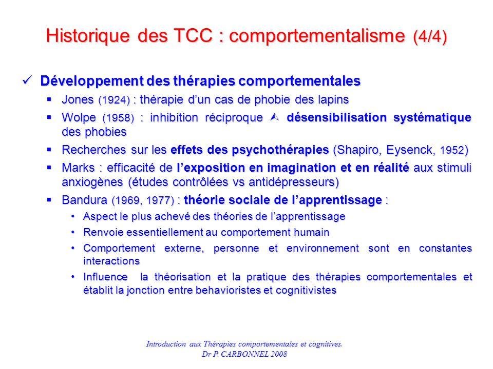 Introduction aux Thérapies comportementales et cognitives.
