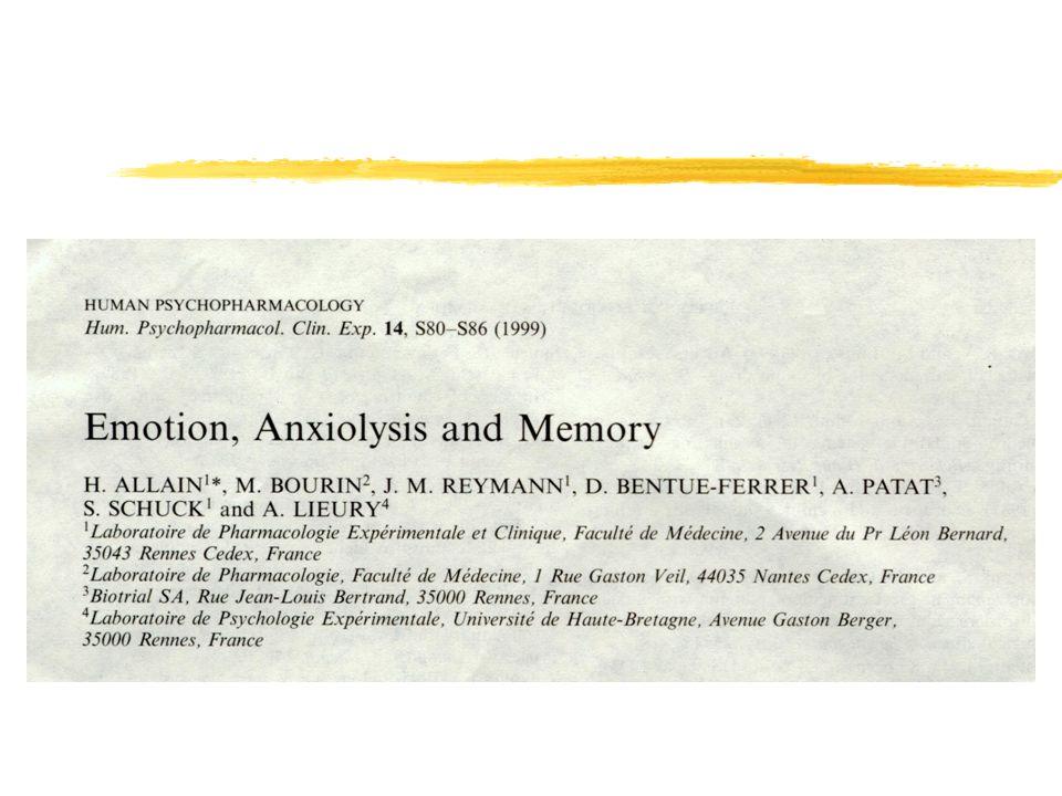 PHARMACOLOGIE zClassique yBenzodiazépines yBeta-bloqueurs yAlcool zFutur yGlucocorticoïdes yAnti-CRF yAnti-cortisol yAnti-peptides : vasopressine ; Leptin yLa sérotonine et ses récepteurs … !