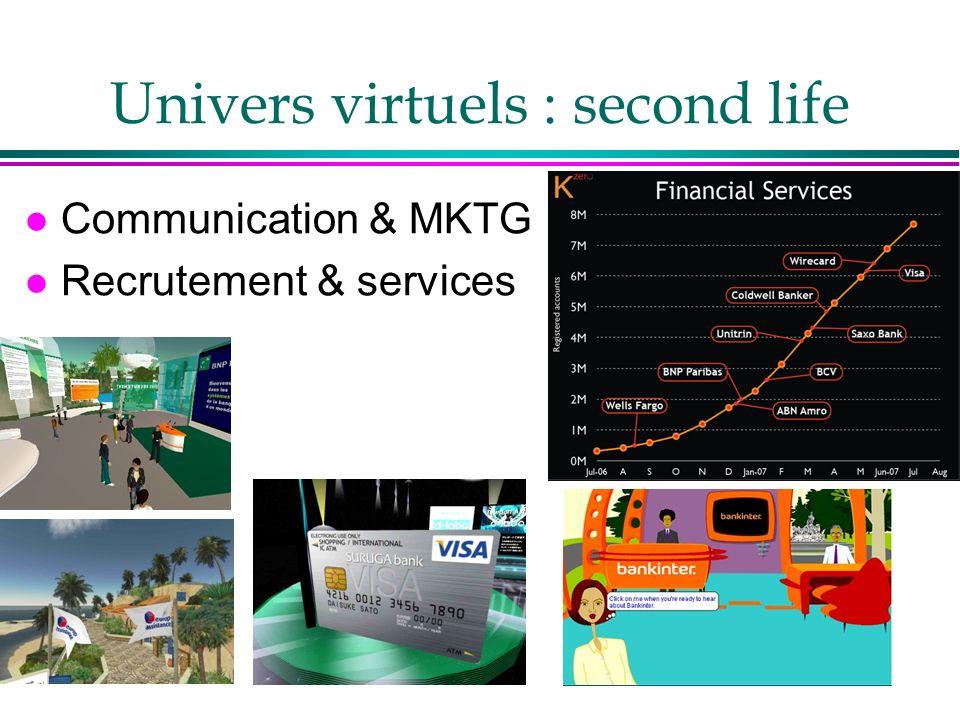 Univers virtuels : second life l Communication & MKTG l Recrutement & services