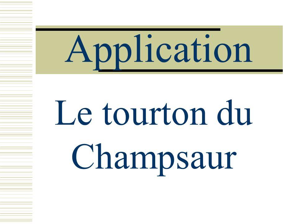 Application Le tourton du Champsaur