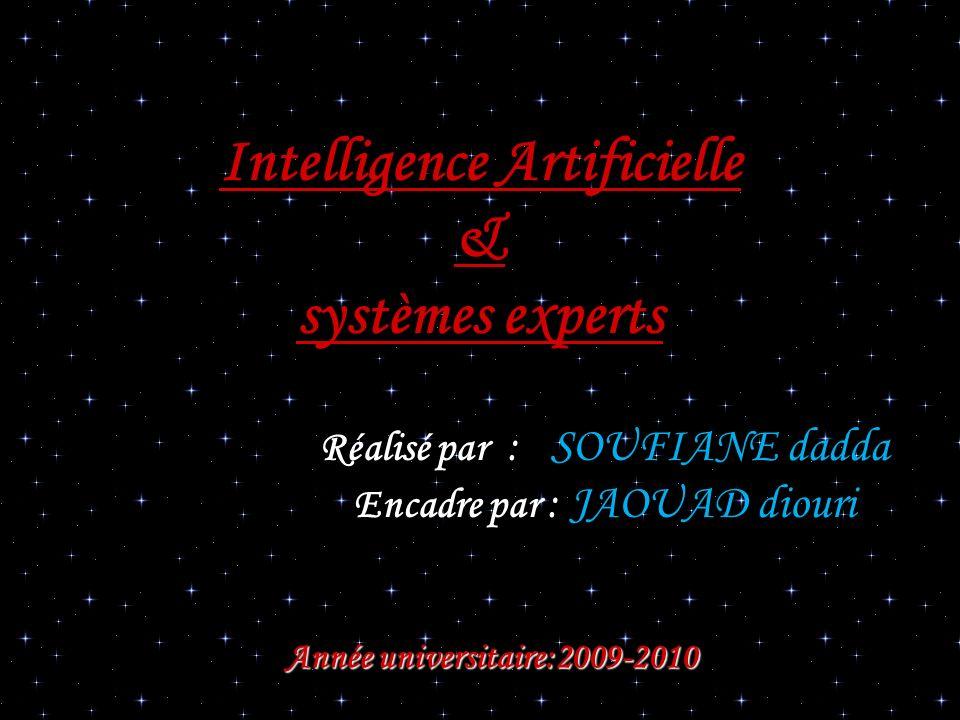 Intelligence Artificielle & systèmes experts Réalisé par : SOUFIANE dadda Encadre par : JAOUAD diouri Année universitaire:2009-2010 Année universitair