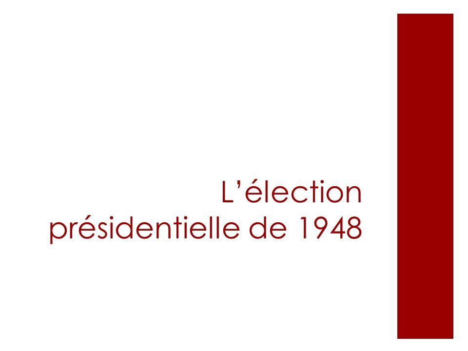 Lélection présidentielle de 1948