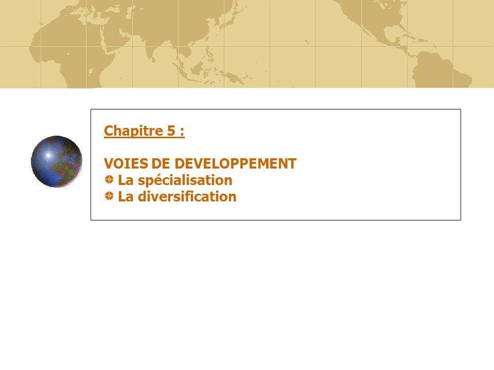 47 Chapitre 5 : VOIES DE DEVELOPPEMENT La spécialisation La diversification
