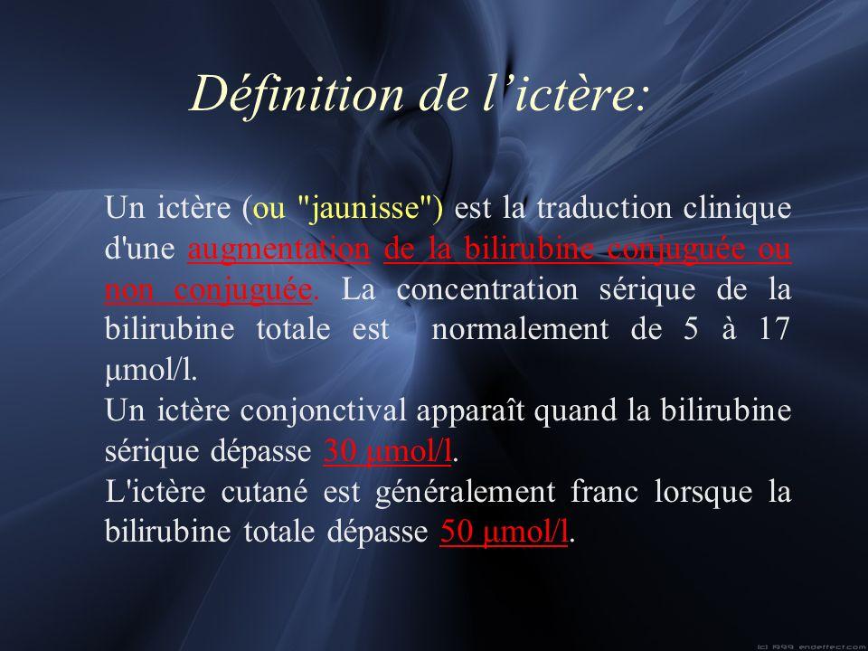 Définition de lictère: Un ictère (ou