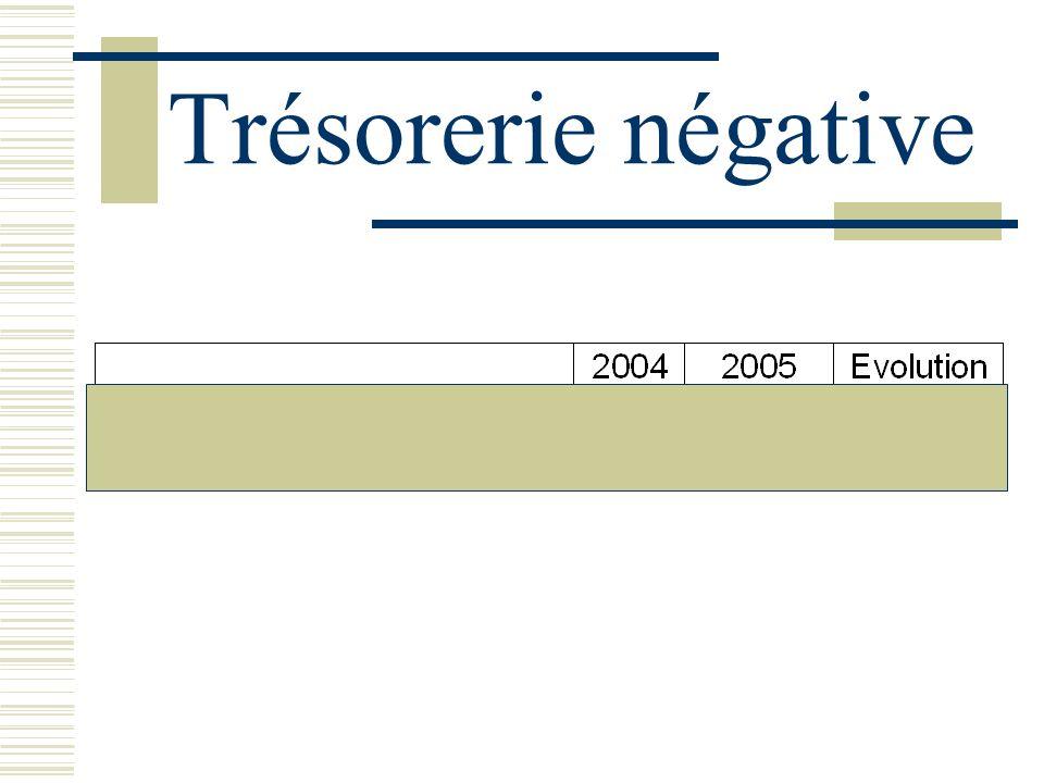 Trésorerie négative