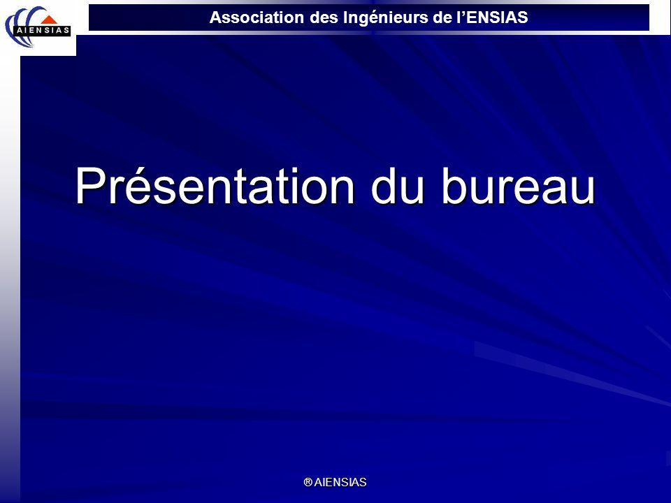 Association des Ingénieurs de lENSIAS ® AIENSIAS Présentation du bureau