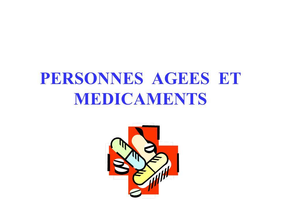 PERSONNES AGEES ET MEDICAMENTS